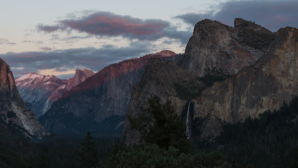 Evening View from Tunnel View Yosemite