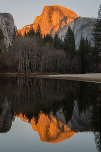 Camp 6 Sunset of Half Dome at Yosemite
