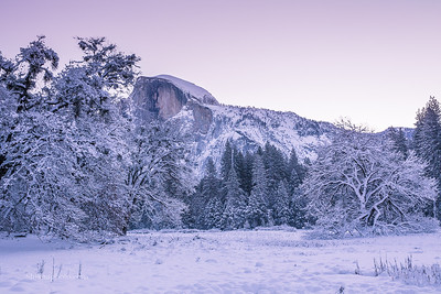 Half Dome before sunrise