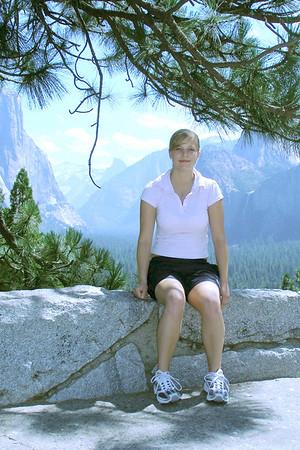 Yosemite Falls with Tini.