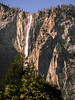 This is a waterfall that's only present in early spring, forgot its name. It comes off the same rock as Yosemite Falls, about 1/4 or so mile away. You can see it when standing in front of Bridle Veil Fall, but its on the opposite side of the valley.