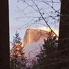 Last light of the day shines at Half Dome