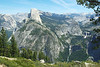 Half Dome with Nevada and Vernal Falls