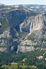 Yosemite Falls and the High Sierras as seen from Glacier Point. 3000 Feet below is Yosemite Valley.