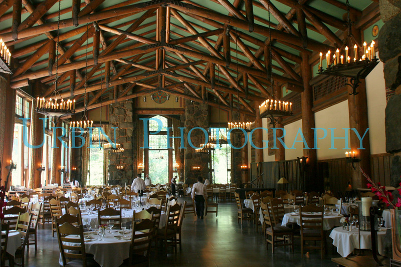 The main dining room of the Ahwanhee Hotel in Yosemite National Park.