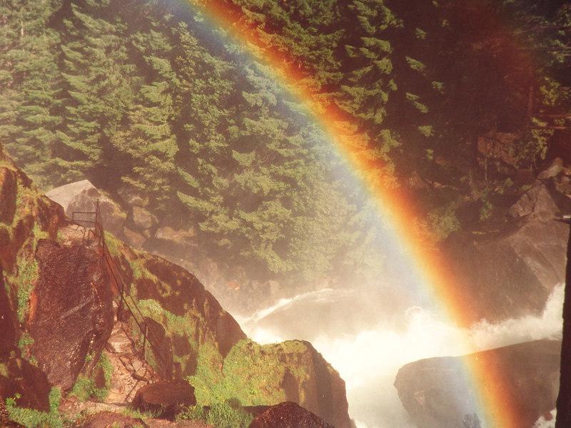 Mist trail Vernal Falls, Yosemite CA.