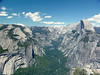 Yosemite, North Dome, Tenaya Canyon and Half Dome.