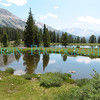 A pair of shallow ponds in the Yosemite High Country.