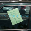 Note to silly Saab owner, Yogi can't read! Actual note seen in the Yosemite National Park high country.