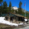 The Tioga Pass Ranger Station with a bit of late season snow.