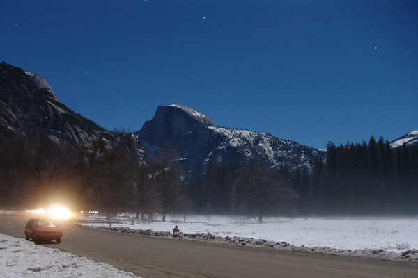 Half Dome in the full moon 1-10-09.