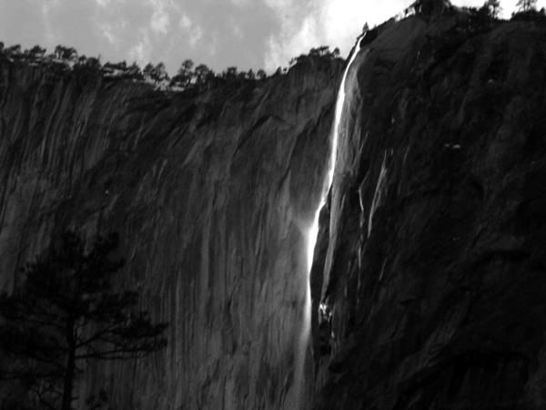 Horsetail Falls B&W.