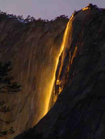 Horsetail Falls Yosemite Febuary 2007.