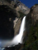 Lunar Rainbow or Moonbow, Lower Yosemite Falls the day before the full moon June 2010. Yosemite CA.