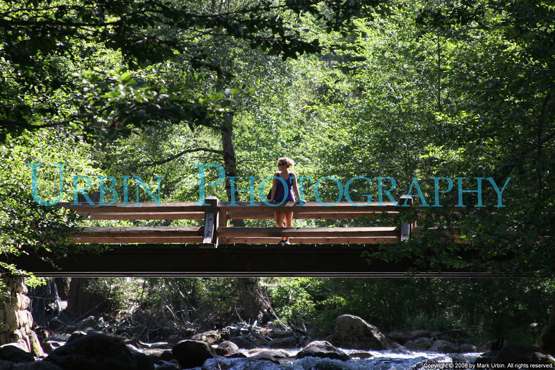 "A woman on the new bridge at Happy Isles, Yosemite Valley. This photo is part of my book, <a href=""http://www.blurb.com/bookstore/detail/319400"">Yosemite: A State of Mind</a>."