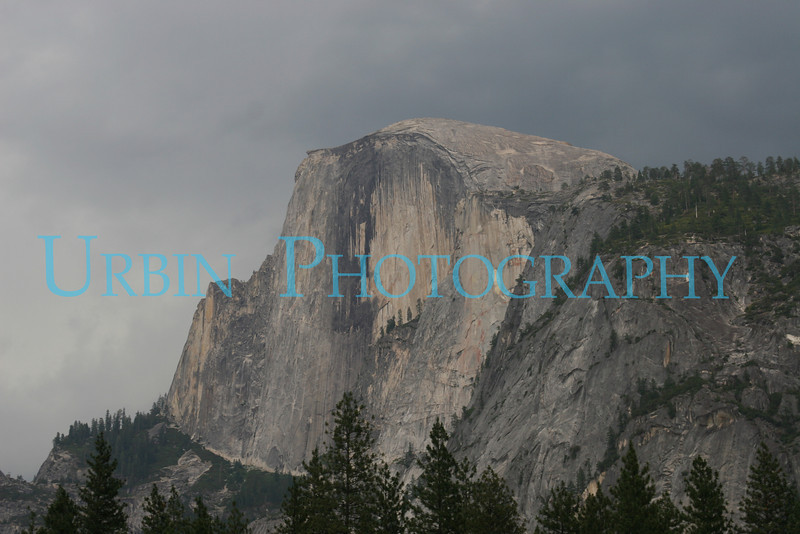 Storm Clouds over Half Dome. I took this photograph from Camp Curry.