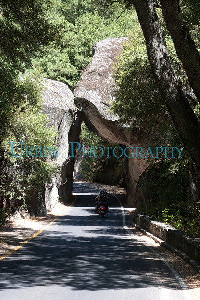 The Arch Rock entrance to Yosemite National Park.