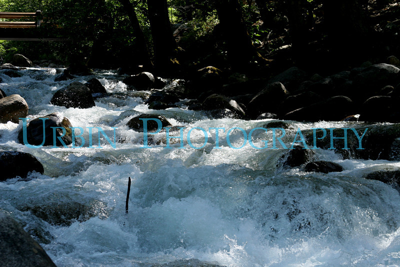 The Merced River at Happy Isles in Yosemite Valley.