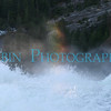 A rainbow created at the very top of Nevada Falls.
