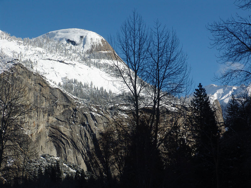 North Dome Yosemite winter