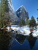 El Cap meadow Yosemite winter