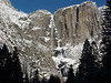 Yosemite winter  snow  Yosemite Falls