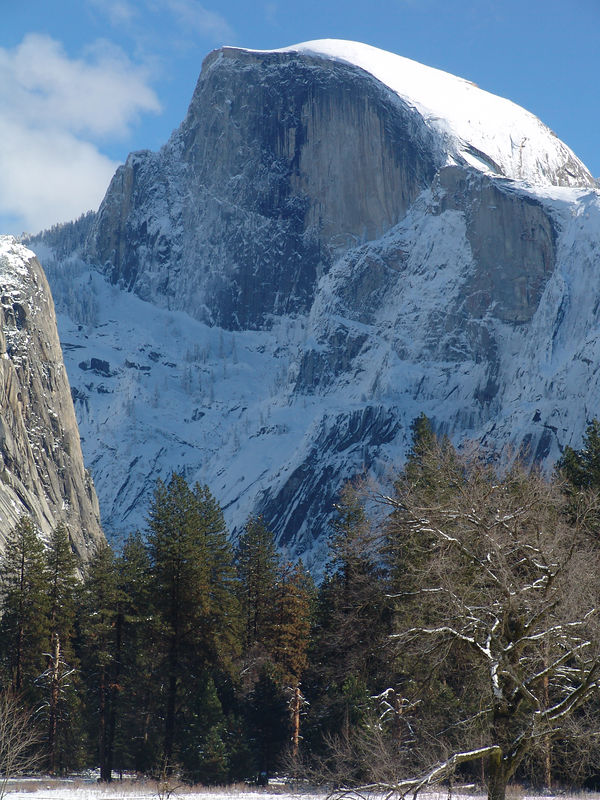 Yosemite winter  Half Dome
