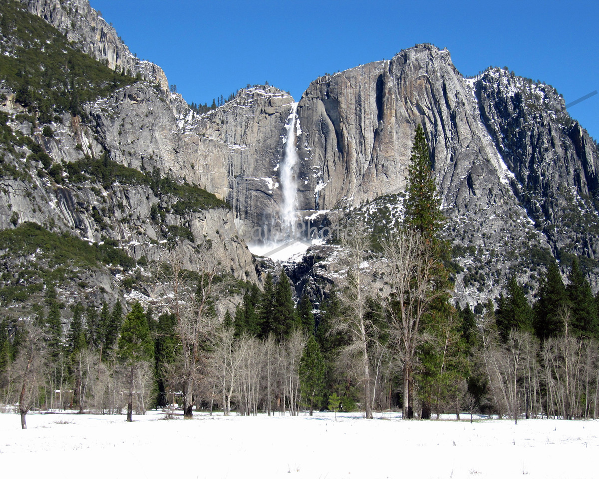 This was a rare April snowstorm in Yosemite Valley.  This is Yosemite Falls after the storm cleared.  This was a spectacular and special time to be in he valley.  2010