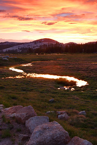 Sunset, Tuolumne Meadows - I Yosemite National Park California