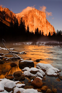 Winter Sunset, Gates of the Valley Yosemite National Park California