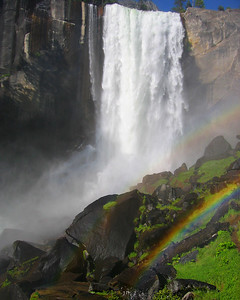 Rainbow and Vernal Falls Yosemite National Park California