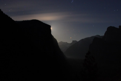Moonrise, Tunnel View Yosemite National Park California