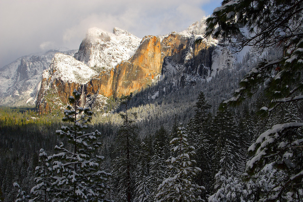 Three Brothers, Winter Yosemite National Park California