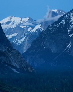 Clouds Rest and Half Dome from Tunnel View