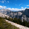 This view is of Half Dome and Clouds Rest from the North Dome trail.