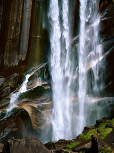 Close-up of Vernal Falls during low water season