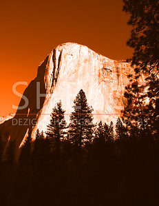 El Capitan Morning - Orange