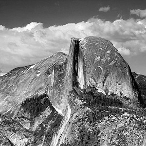 Half Dome Afternoon in B/W