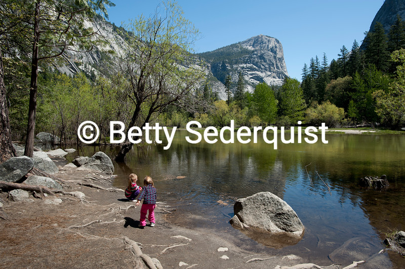 Children at Mirror Lake, Yosemite