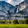 Yosemite Upper and Lower Falls in Yosemite N.P.