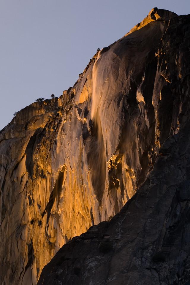 Horsetail Falls at Sunset