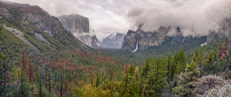 Tunnel View on a rainy day