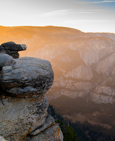 Rocks at Glacier Point at Sunset, Yosemite