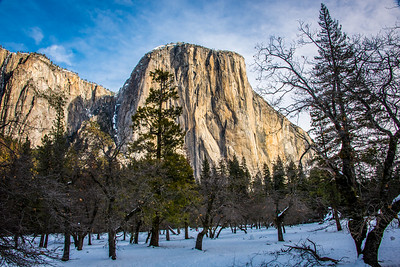 Yosemite Winter Fresh Snow! Bridalveil Falls! California 45Epic Dr. Elliot McGucken Fine Landscape and Nature Photography