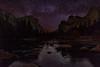 Milky way rising at Gates of the valley - Yosemite National Park
