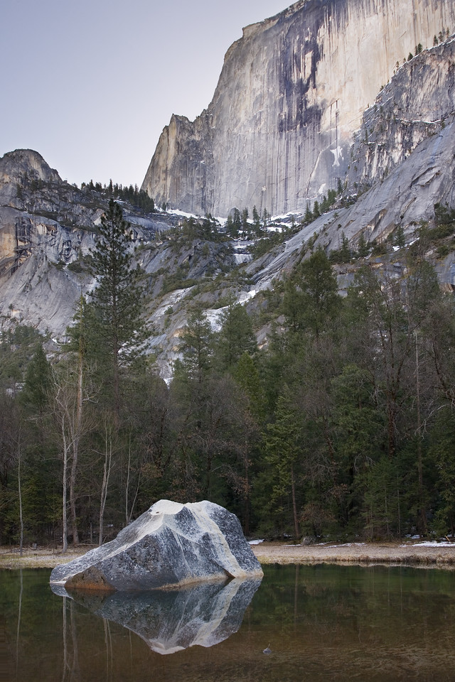 Rock and Half Dome in the Morning Light