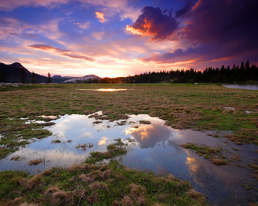Sunset, Tuolumne Meadows - II Yosemite National Park California