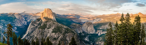 Nikon D810 Panorama!  Yosemite Half Dome Panorama from Glacier Point! Dr. Elliot McGucken Fine Art Landscape & Nature Photography for Los Angeles Fine Art Gallery Show !