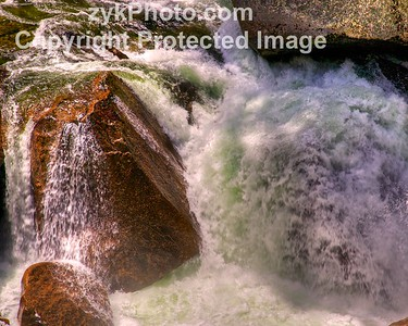 River Cascading Over Granite