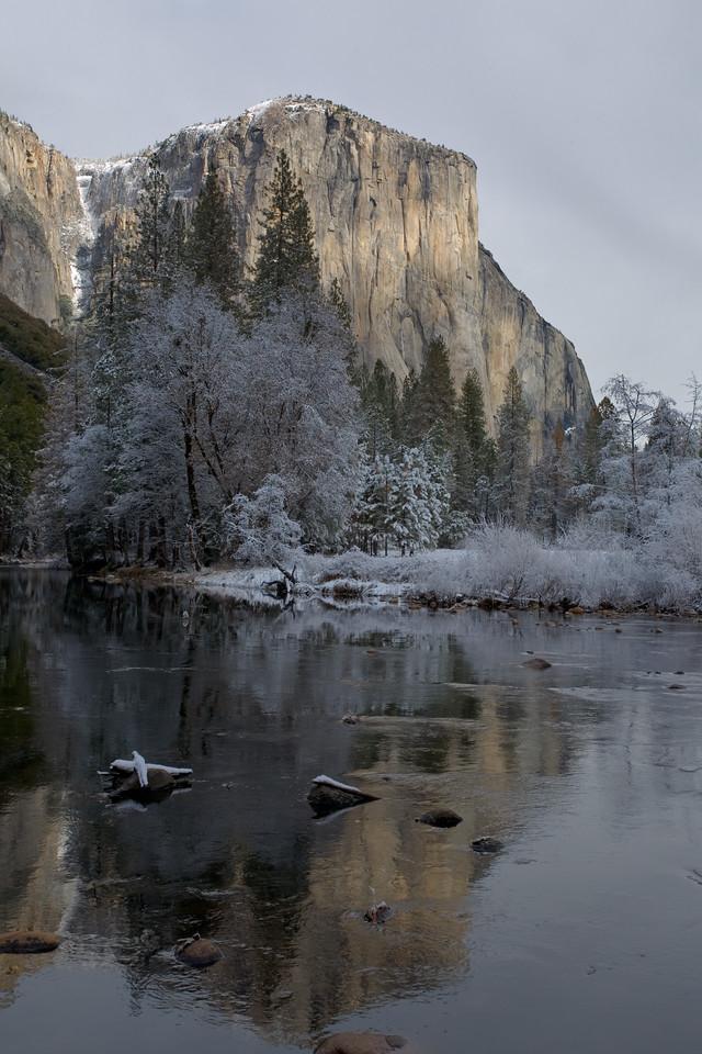 El Capitan with Snow
